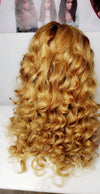 Luxury Human hair, full lace wig with curls, WIG-0008-H - yalinat