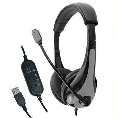 AVID AE-39 USB Headset With Microphone & 6ft Braided Cord