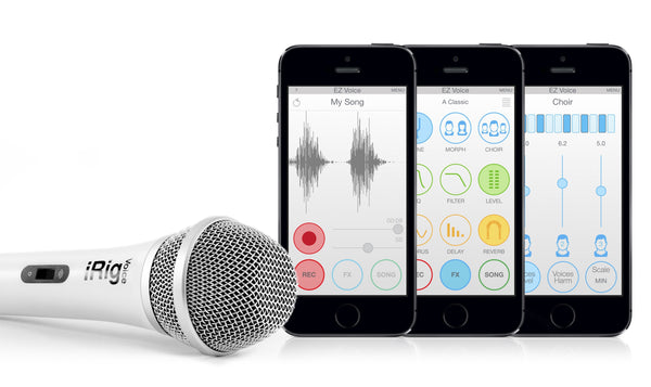 Microphone - IRig Voice Handheld Colourful Microphone - Available In Five Colours