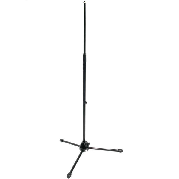 Microphone Stand: Black, Heavy-Duty, No Boom