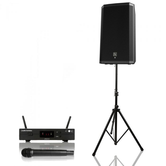 PA Accessory - 1000 Watt Solo Vocalist / Presentation Package With UHF Microphone
