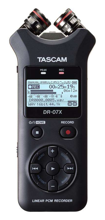 Tascam DR-07X Portable Audio Recorder