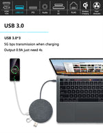 11 in 1 USB C Hub Wirless Charger HUB with USB3.0 RJ45 HDMI VGA Audio TF/SD Card-OTOUCH