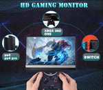 Portable Monitor 1080P 15.6 USB Computer Display Type C Eye Care Second Screen with Mini HDMI Dual Speakers for Laptop Mac iPhone PC Travel Monitor for PS4 NS Switch Include Smart Cover