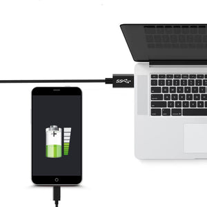 Nylon-Braided Type-C to USB-A Fast Charging Cable