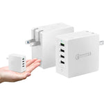 QC3.0 + 3x2.4A Wall Charger US Plug-OTOUCH