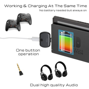 Bluetooth5.0 Audio Transmitter for Nintendo Switch/PC