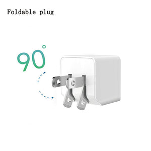 Mini Dual Port 12W AC Charger with Foldable Plug-OTOUCH