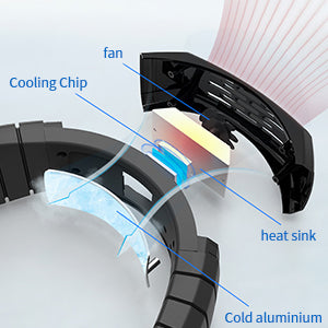 Portable Mini Air Conditioner Neck Cooler Fan