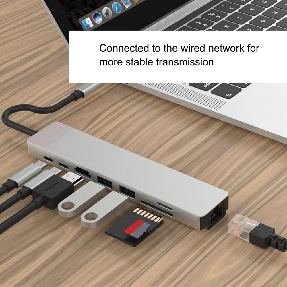 USB C Hub Adapter Docking Station for Ethernet-OTOUCH