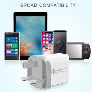 3Port QC3.0 Quick Charging Wall Charger AC Charger Adapter Station US Plug-OTOUCH