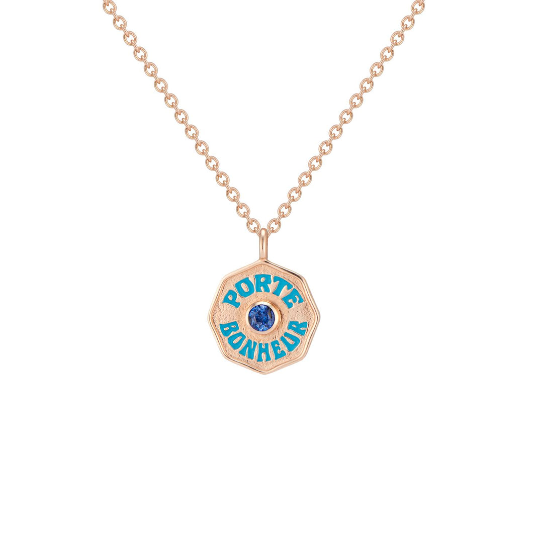 Enamel Coin Mini Necklace