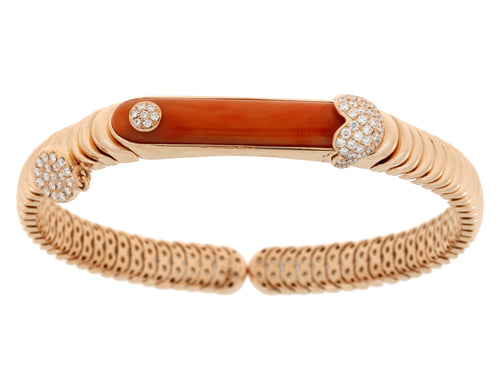 Diamond Rose Gold Red Bracelet