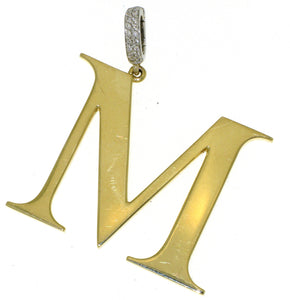 "Initial ""M"" Yellow Gold Charm"