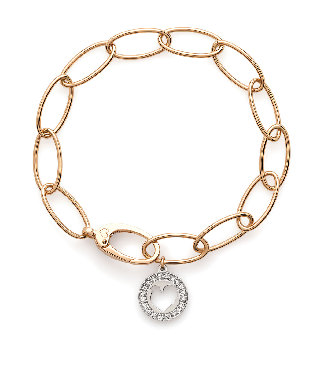 Chantecler Diamond Charm Bracelet