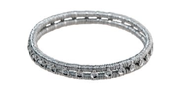 Joy Two Row White Gold Eternity Bracelet
