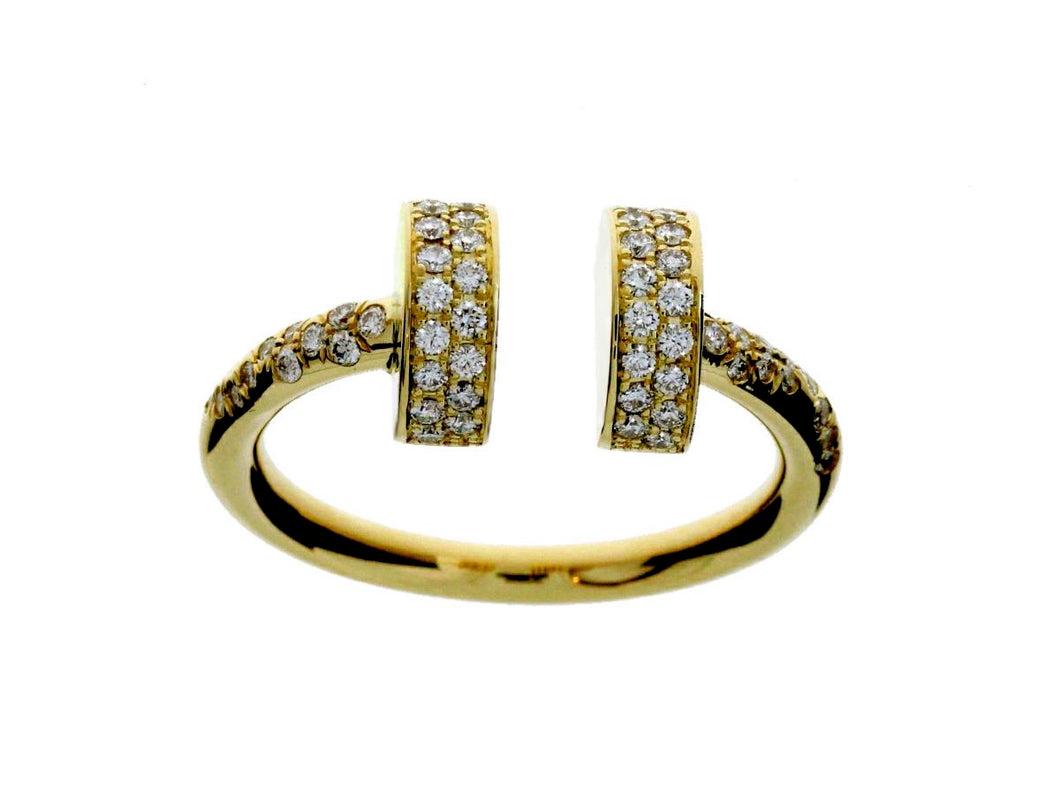 Screw 18K Yellow Gold Diamond Ring