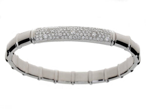 Half 18K White Gold Tennis Bracelet