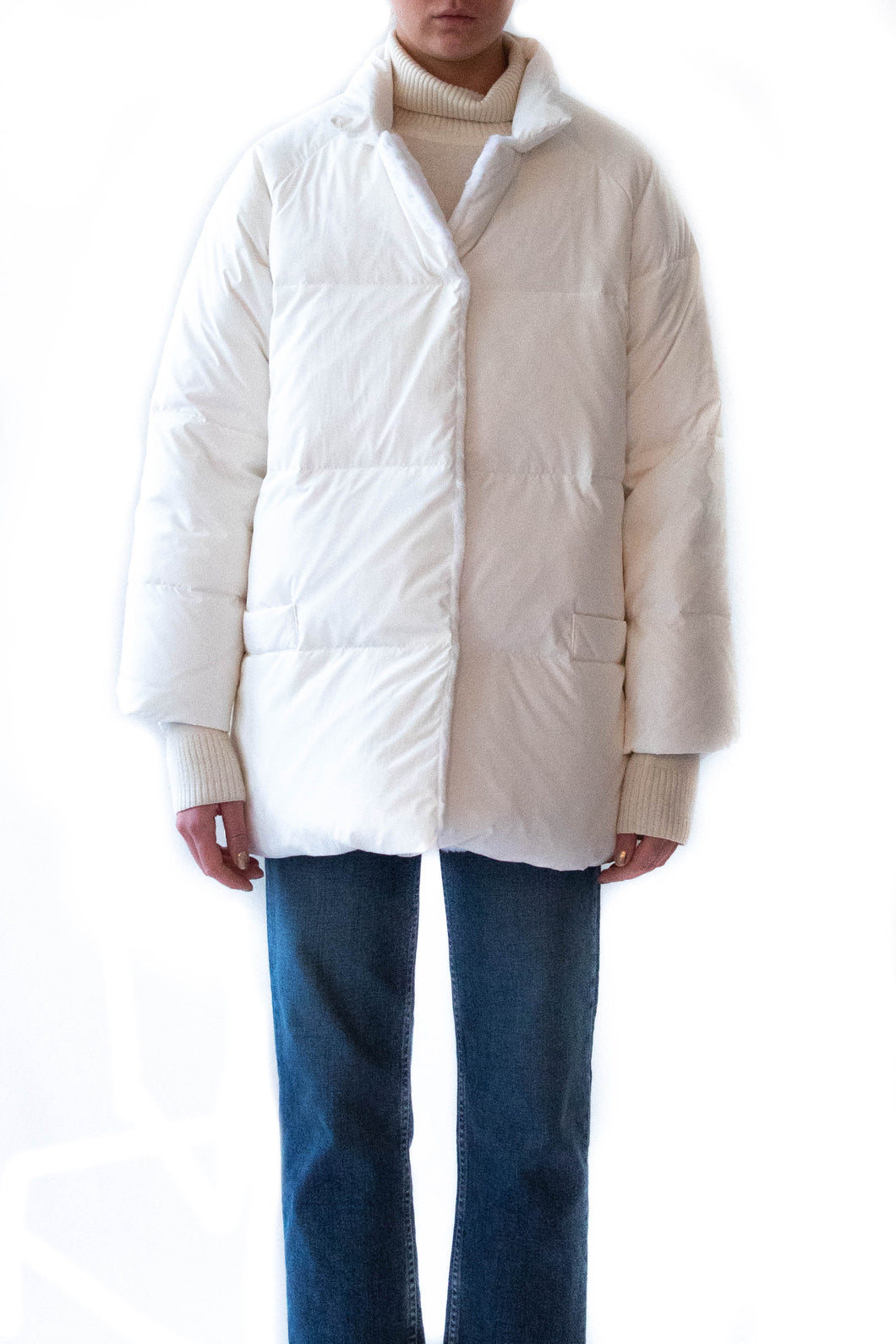 Sheared Rabbit Lined Cotton Puffer