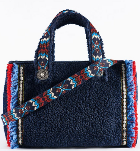Aspen Art Fluffy Navy Bag