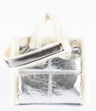 Load image into Gallery viewer, Silver Cortina Fluffy Bag