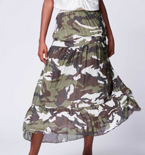 Load image into Gallery viewer, Camo Maxi Skirt