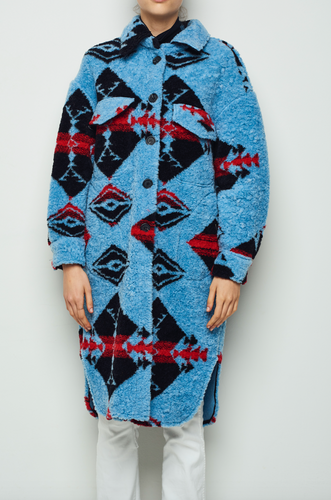 Ethnic Long Overshirt Coat