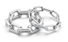 Load image into Gallery viewer, SAXON STERLING SILVER LARGE CHAIN LINK RING