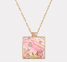 Load image into Gallery viewer, Optimism Pendant With Rhodochrosite and Lotus Garnet