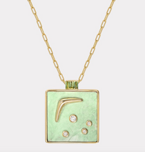 Load image into Gallery viewer, Karma Pendant With Green Turquoise and Green Tourmaline