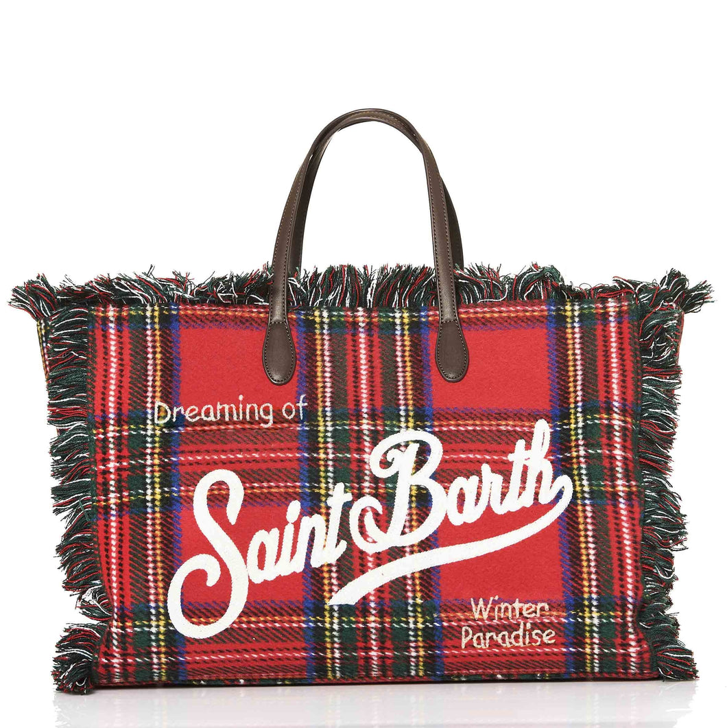 Red Tartan Saint Barth Bag