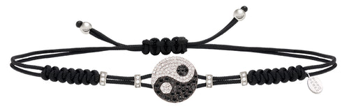 Yin Yang Black Diamond Bracelet