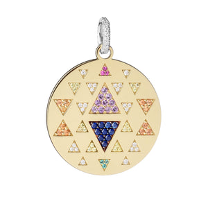 Rainbow Triangle Pendant