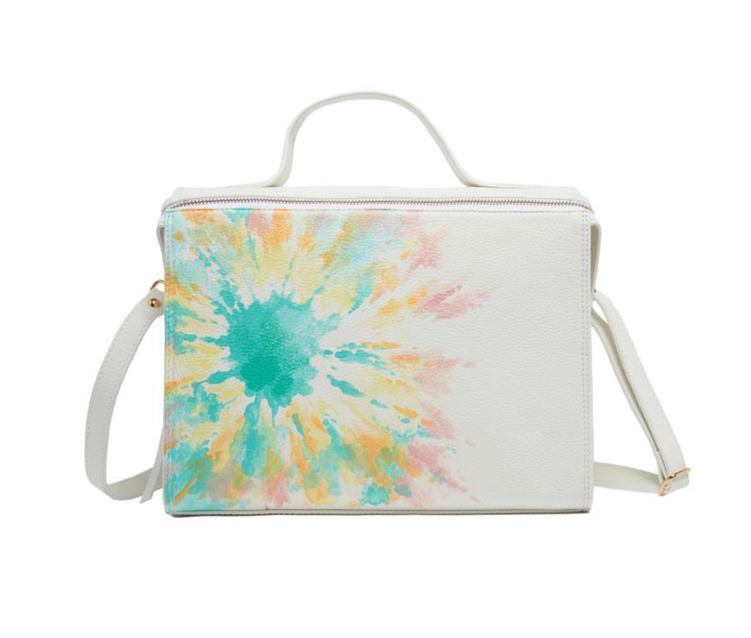 Handpainted Tie Dye Floursecent Bag