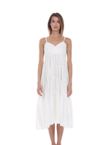 White Tiered Maxi Dress