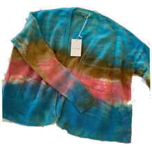 Load image into Gallery viewer, Tie Dye Cashmere Cardigan