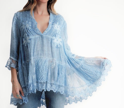 Jolene Embroidery Flower Tunic