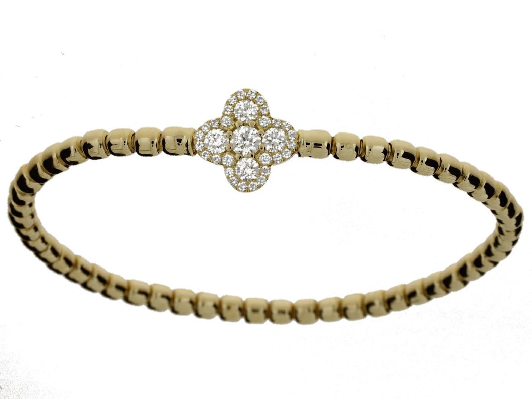 Yellow Gold Clover Bracelet