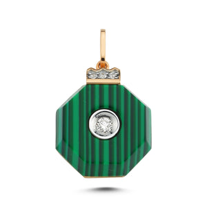 Diamond Sea Malachite Diamond Pendant