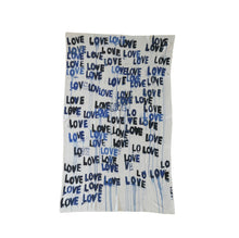 Load image into Gallery viewer, Love Letter Blues Cashmere Blanket