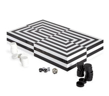 Load image into Gallery viewer, Op Art Backgammon Set