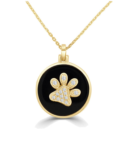 Paw Print Diamond Necklace