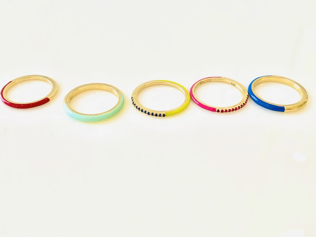 Stack of Five Gold Rings