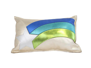 Star Rainbow Leather Pillow