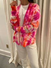 Load image into Gallery viewer, Sunny Tie Dye Cashmere Cardigan