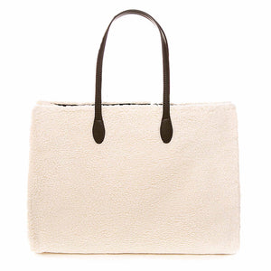 White Sherpa Fabric Bag