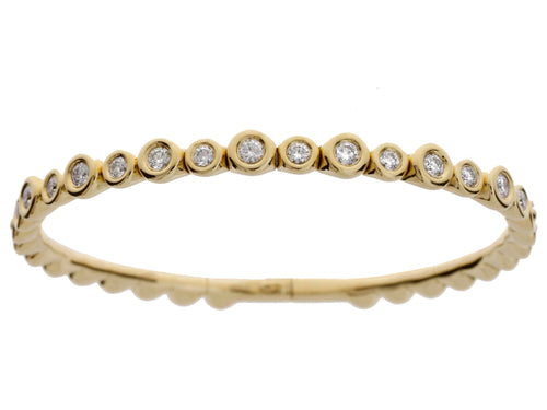 Alternated Diamond Burnished Bracelet