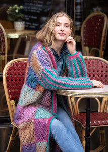 Patchwork Multicolor Duster