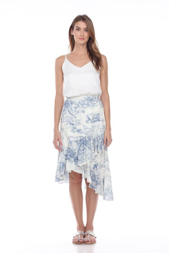 Blue Toile Skirt