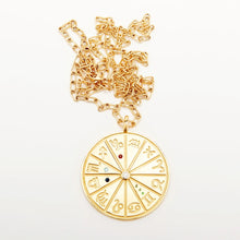 Load image into Gallery viewer, Personalized Zodiac Medium Necklace